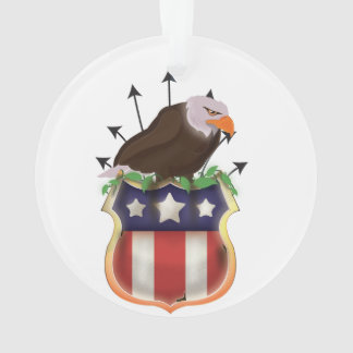 American Golden Eagle Stars and Stripes Flag Ornament