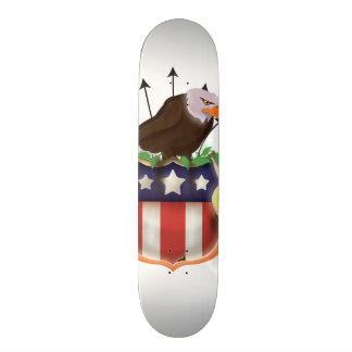 American Golden Eagle Stars and Stripes Flag Skateboard
