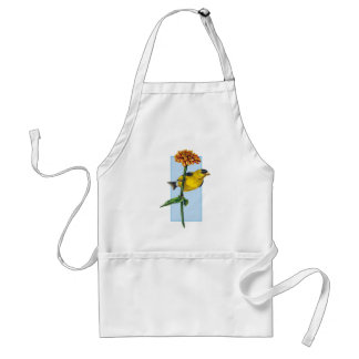 American Goldfinch and Zinnia flower Adult Apron