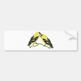 American goldfinch bird love bumper sticker
