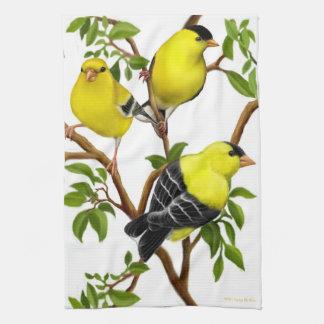 American Goldfinch Birds Kitchen Towel