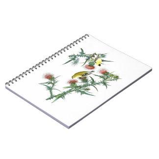 American Goldfinch John Audubon Birds of America Spiral Notebook