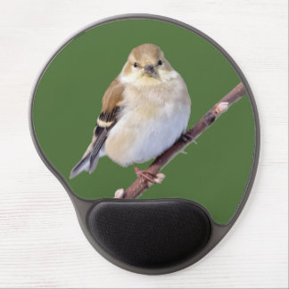 American Goldfinch Looking At You Gel Mouse Pad