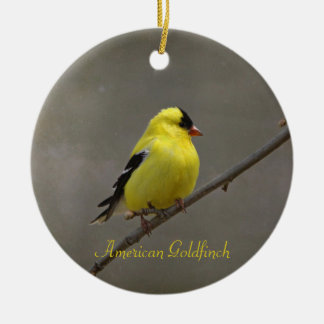 American Goldfinch Photography Round Ornament