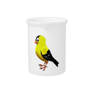 AMERICAN GOLDFINCH DRINK PITCHER