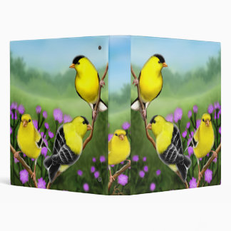 American Goldfinches in Thistles Avery Binder