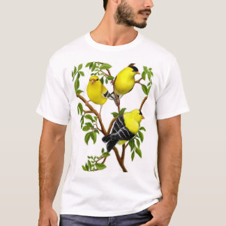 American Goldfinches in Vines Shirt