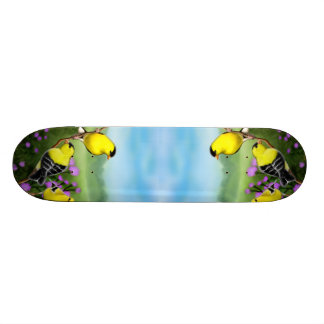 American Goldfinches on Thistles Skateboard