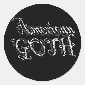 American Goth gothic girls an guys Classic Round Sticker