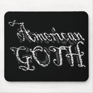 American Goth gothic girls an guys Mouse Pad