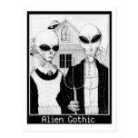 American Gothic, Alien Portraits, Aliens Postcard