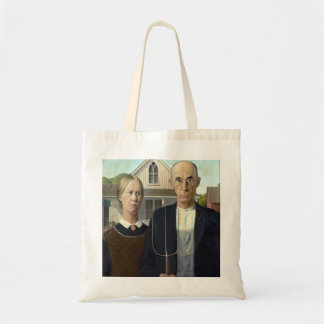 American Gothic by Grant DeVolson Wood Budget Tote Bag