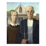 American Gothic by Grant DeVolson Wood Full Color Flyer