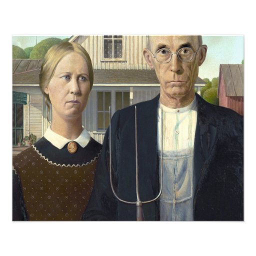American Gothic by Grant DeVolson Wood Personalized Flyer