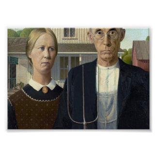 American Gothic by Grant DeVolson Wood Posters