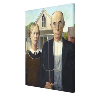 American Gothic by Grant Wood Canvas Print