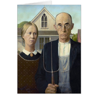 American Gothic by Grant Wood Card