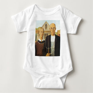 American Gothic by Grant Wood,reproduction art, Tshirts