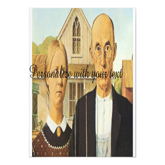 American Gothic by Grant Wood,reproduction art,vin Magnetic Card