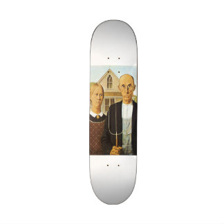 American Gothic by Grant Wood,reproduction art,vin Skateboard Deck
