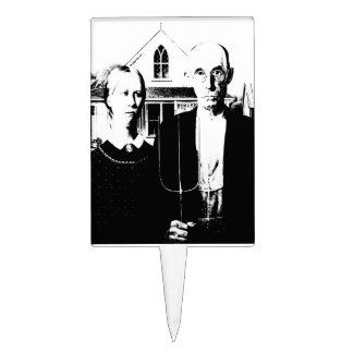 American Gothic Cake Topper
