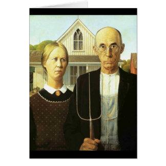 American Gothic Card