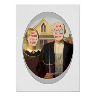 American Gothic Carnival Cutout Poster