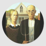 American Gothic Classic Round Sticker