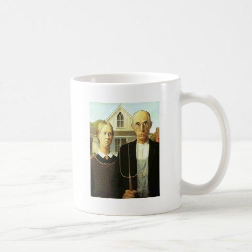 American Gothic Classic White Coffee Mug