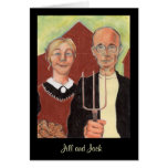 American Gothic couple Valentine Card Personalize