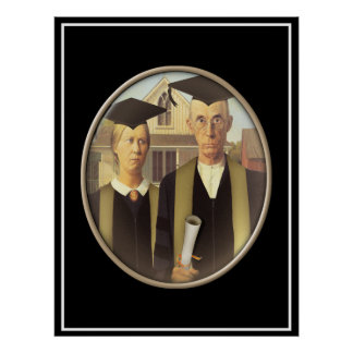 American Gothic Graduate Cameo Posters