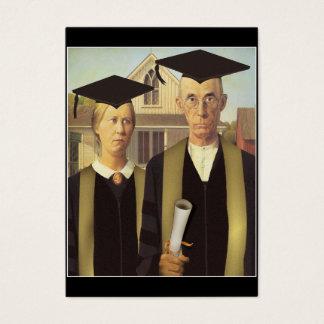American Gothic Graduation Business Card