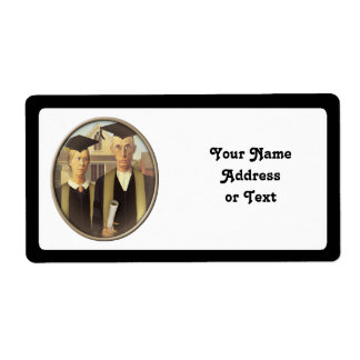 American Gothic Graduation Cameo Shipping Label
