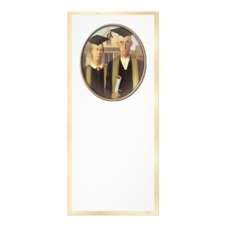 American Gothic Graduation Cameo on Gold Sheen Rack Card Design