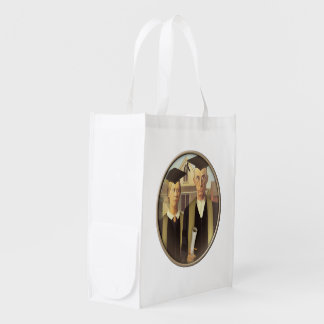 American Gothic Graduation Cameo Grocery Bag