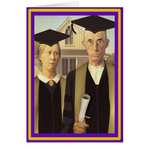 American Gothic Graduation Greeting Card