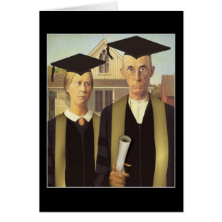 American Gothic Graduation Greeting Cards