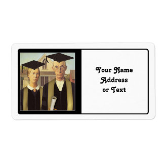 American Gothic Graduation Shipping Label