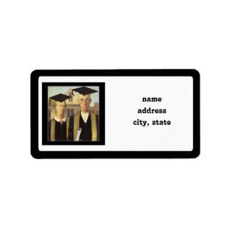 American Gothic Graduation Address Label