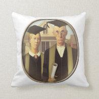 American Gothic Graduation (On Blank) Throw Pillow