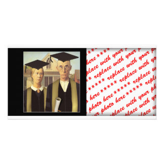 American Gothic Graduation Photo Card Template