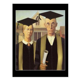 American Gothic Graduation Postcard