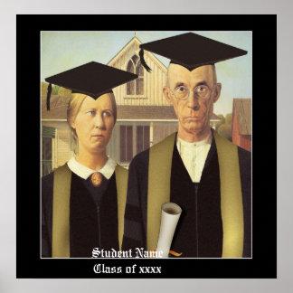 American Gothic Graduation Poster