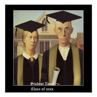American Gothic Graduation Poster