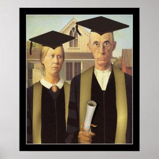 American Gothic Graduation Print