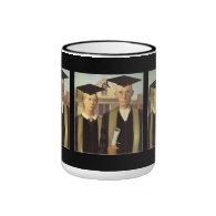 American Gothic Graduation Ringer Coffee Mug