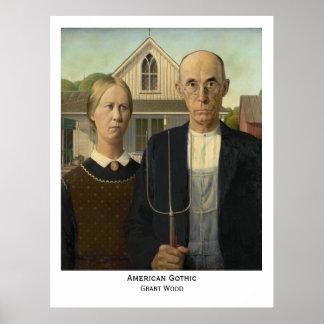 American Gothic, Grant Wood Print Print