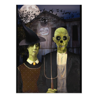 American Gothic Halloween Card