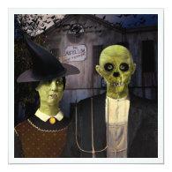 American Gothic Halloween 5.25x5.25 Square Paper Invitation Card