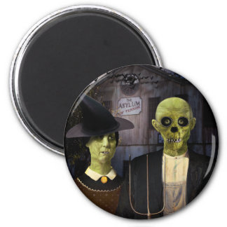 American Gothic Halloween Magnet